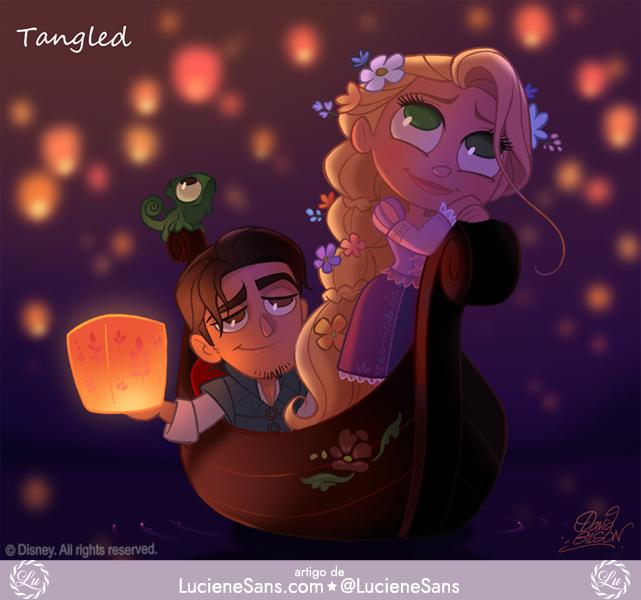 Personagens Disney Em Estilo Chibi Luciene Sans